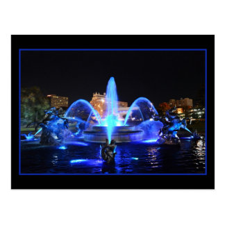 Carte Postale Bleu royal J.C. Nichols Fountain, Kansas City