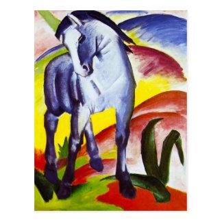 Carte postale bleue de cheval de Franz Marc