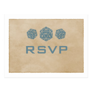 Carte postale bleue du Gamer RSVP de matrices de