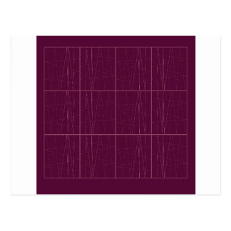 Carte Postale Blocs de chocolat d'ethno de conception