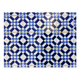 Carte Postale Blue and White Azulejo