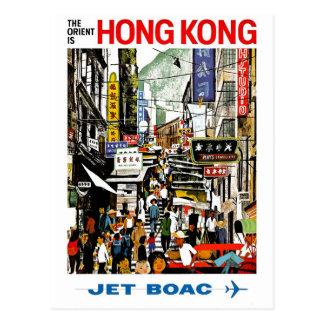 Carte Postale BOAC - Hong Kong