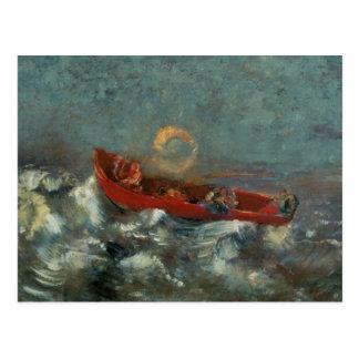 Carte Postale Boat rouge, 1905