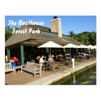 Carte Postale Boathouse dans Forest Park
