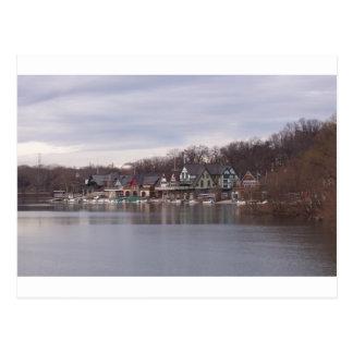 Carte Postale Boathouses d'université et d'université à
