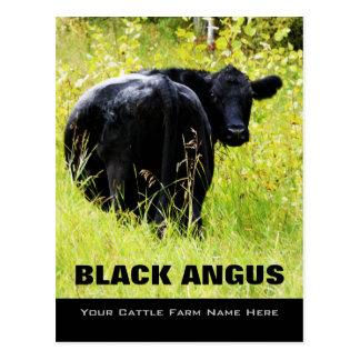 Carte Postale Boeuf noir d'Angus - ajoutez votre nom de bétail