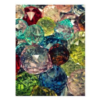 Carte Postale Boho chic : Perles en verre colorées