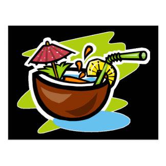 Carte Postale Boisson de fruit tropical de la noix de coco 2
