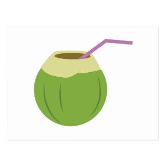 Carte Postale Boisson de noix de coco
