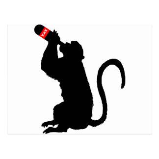 Carte Postale Boissons alcoolisées de singe