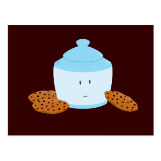 Carte Postale Boîte à biscuits de sourire avec des biscuits