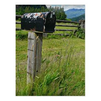 Carte Postale Boîte aux lettres en métal de style campagnard