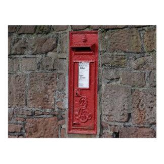 Carte Postale Boîte de lettre britannique de mur