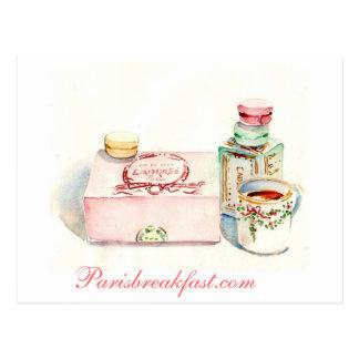 Carte Postale Boîte de Paris Macaron par Carol Gillott