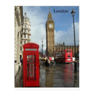Carte Postale Boîte de téléphone de Londres et Big Ben (St.K)