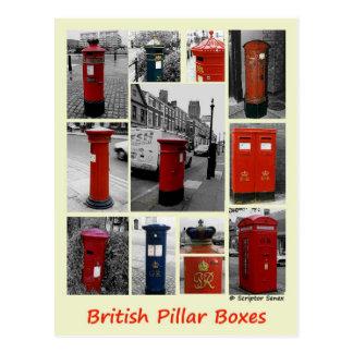 Carte Postale Boîtes de pilier britanniques