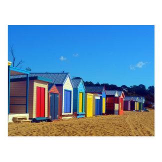 Carte Postale Boîtes de plage