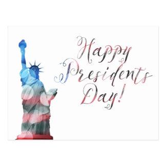 Carte Postale Bokeh heureux de liberté des Présidents Day