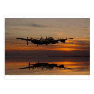 Carte Postale bombardier de Lancaster le bout droit de maison