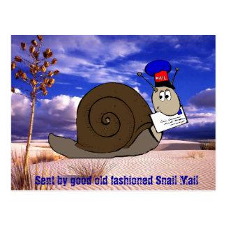 Carte Postale Bon snail mail démodé