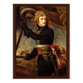Carte Postale Bonaparte au pont d'Arcola par Gros, Antoine