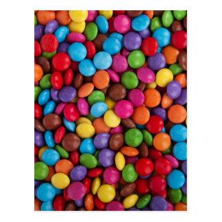 Carte Postale Bonbons au chocolat colorés