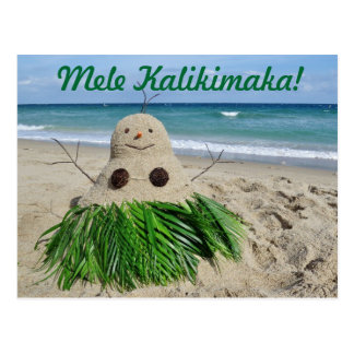 Carte Postale Bonhomme de neige Sandman de Mele Kalikimaka de