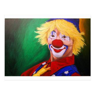 Carte Postale Bonjour clown