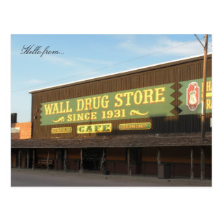 Carte Postale Bonjour de… Drogue de mur