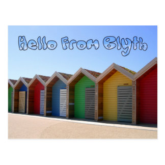 Carte Postale Bonjour des huttes de plage de Blyth le
