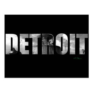 Carte Postale Bonjour Detroit