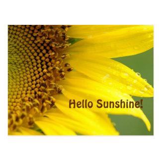 Carte Postale Bonjour soleil