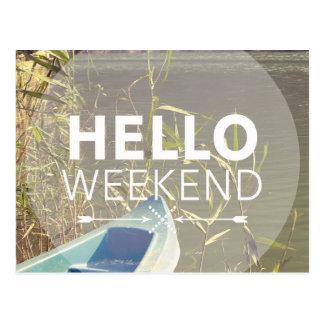 Carte Postale Bonjour week-end 4
