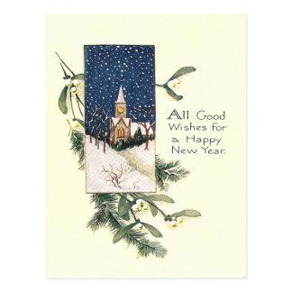 Carte Postale Bonne année vintage