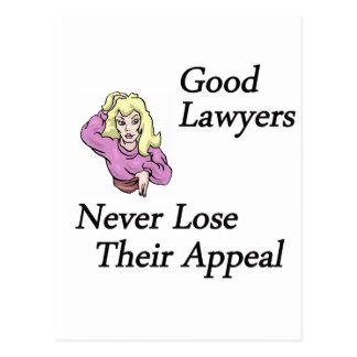 Carte Postale bonne femme d'avocats