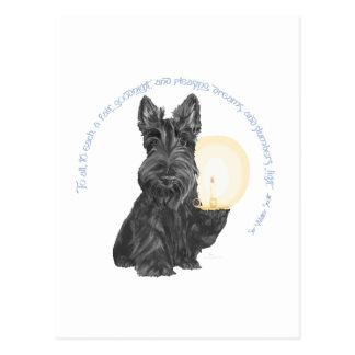 Carte Postale Bonne nuit écossais Terrier
