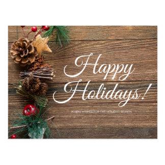 Carte Postale Bonnes fêtes, chauffez les souhaits
