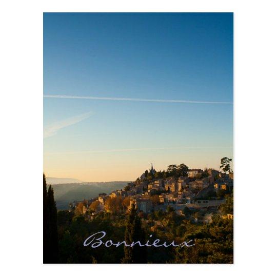 Carte Postale Bonnieux, village in the Luberon, Provence.