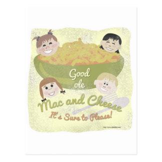 Carte Postale Bons vieux Mac et fromage