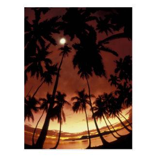 Carte Postale Bora Bora, coucher du soleil de Polynésie