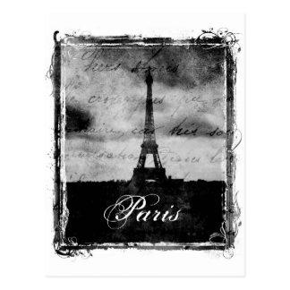 Carte Postale Bord grunge Paris texturisé
