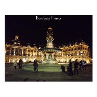 Carte Postale Bordeaux la nuit