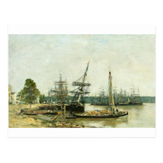 Carte Postale Bordeaux par Eugene Boudin