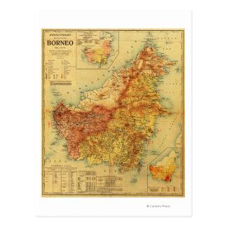 Carte Postale BorneoPanoramic MapBorneo