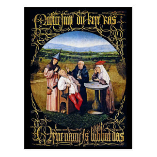 Carte postale : Bosch - extraction de la pierre de