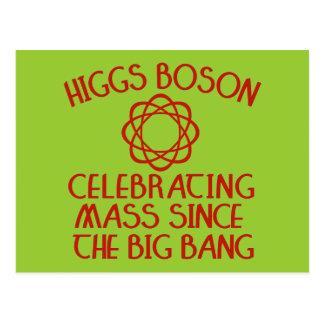 Carte Postale Boson de Higgs célébrant la masse depuis Big Bang