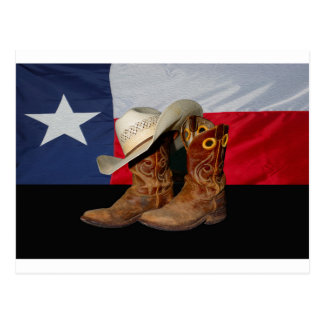 Carte Postale Bottes et Hat.jpg du Texas