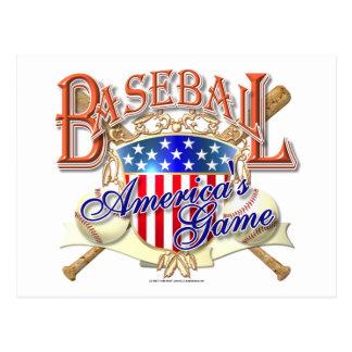 Carte Postale Bouclier vintage des Etats-Unis de base-ball