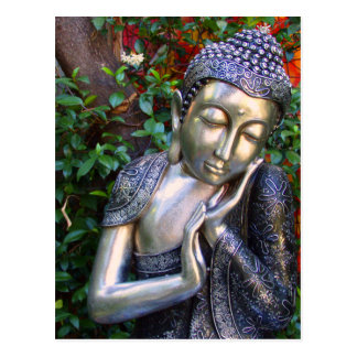 Carte postale   Bouddha argenté