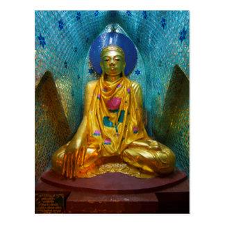 Carte Postale Bouddha dans l'alcôve fleurie